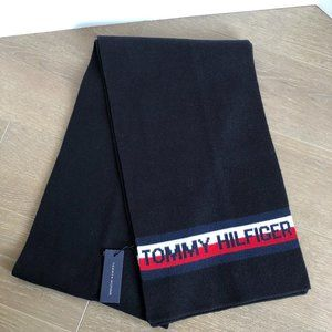 Tommy Hilfiger 100% Cotton Scarf Navy White Red OS